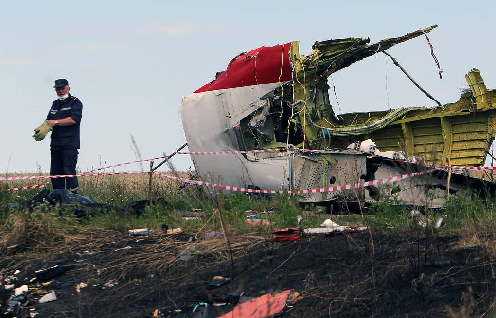 MH17 crash site in eastern Ukraine EPA/IGOR KOVALENKO