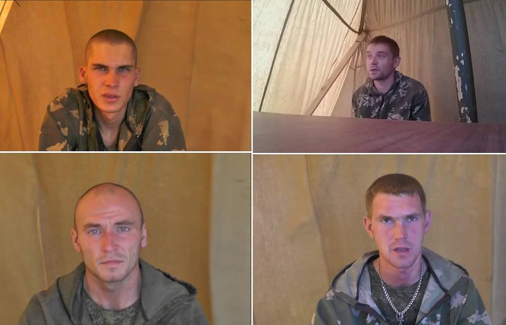 Image reportedly showing Russian soldiers detained  in Ukraine EPA/ATO HANDOUT