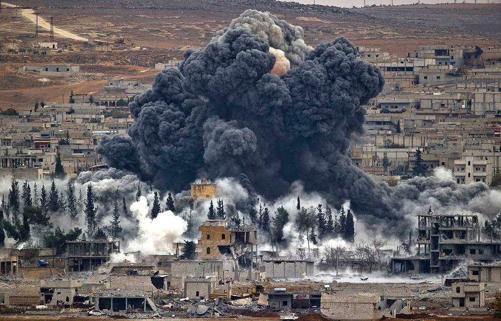 Syrian city of Kobani after the airstrike by the US led coalition AP Photo/Vadim Ghirda