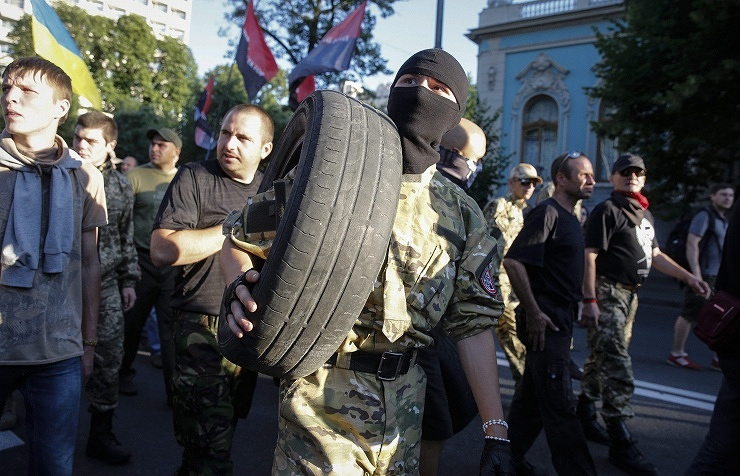 Right Sector supporters TASS Archive/EPA/ROMAN PILIPEY