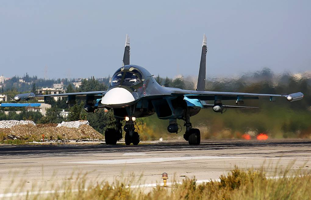 Russia's Su-34 frontline bomber in Syria Alexander Yelistratov/TASS