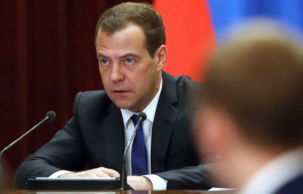 Russian Prime Minister Dmitry Medvedev  Yekaterina Shtukina/Russian Government Press Office/TASS