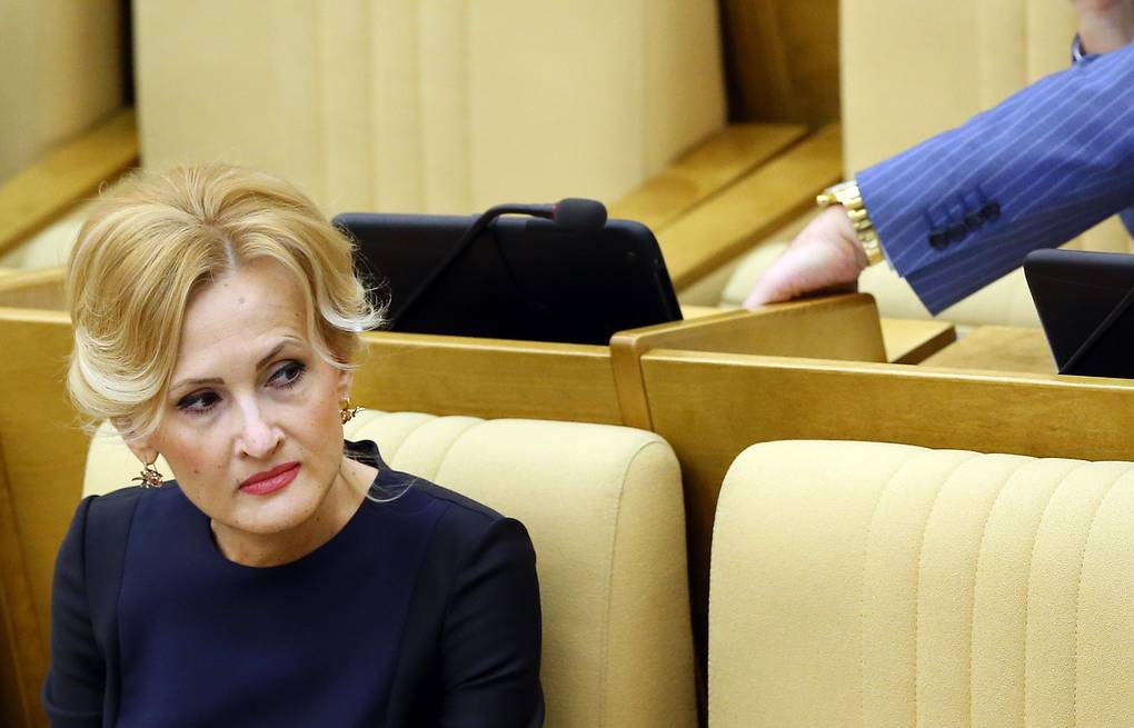 Russia's lower house deputy and member of the ruling United Russia party Irina Yarovaya  Anton Novoderezhkin/TASS