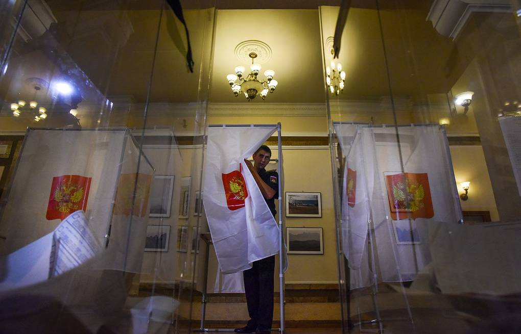 Russian parliamentary elections in Sevastopol, Crimea AP Photo/Maxin Voronov