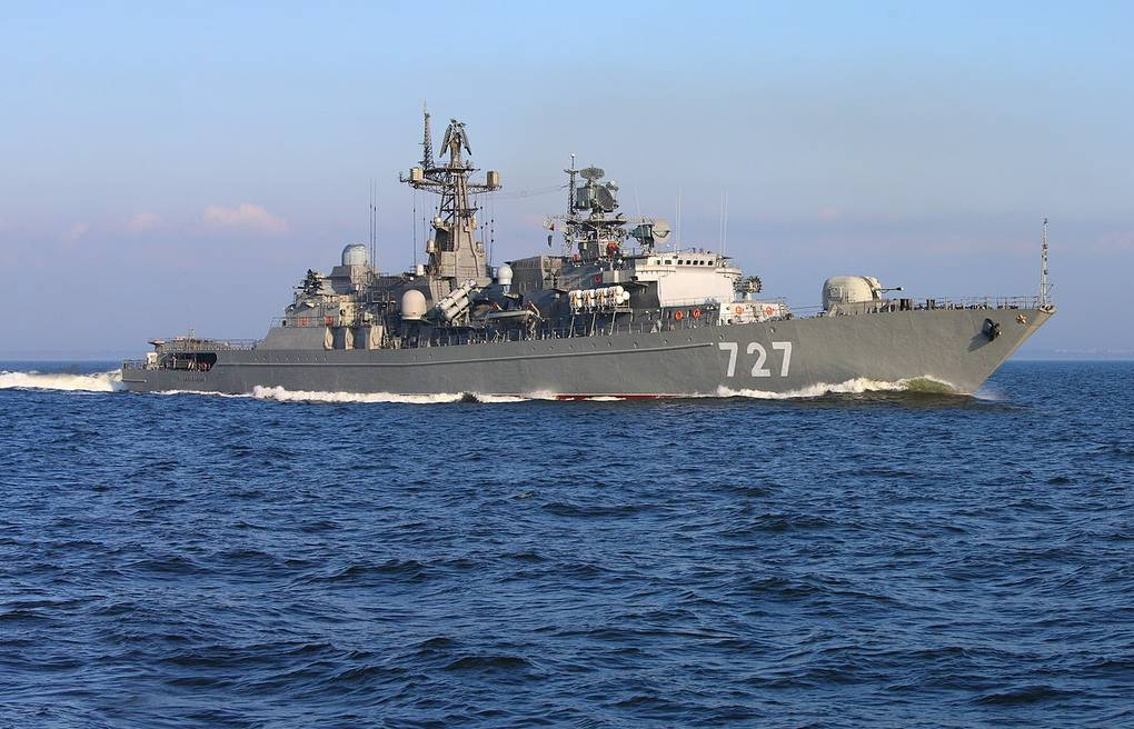 The Russian Baltic Fleet's Yaroslav Mudry frigate ITAR-TASS