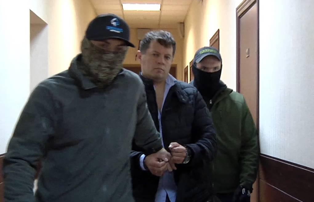 Roman Sushchenko detained by the Russian federal security service Russian Federal Security Service/TASS