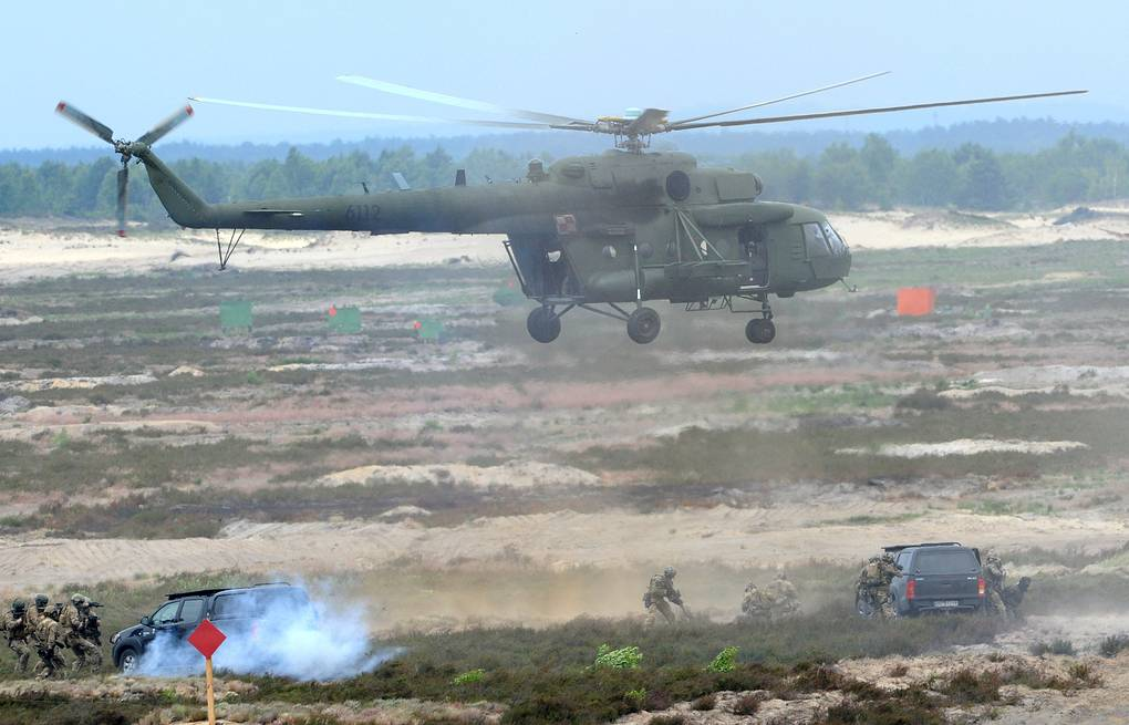 NATO exercise on a training range in Poland AP Photo/Alik Keplicz