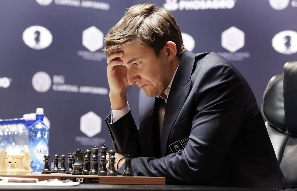 Sergey Karjakin AP Photo/Richard Drew