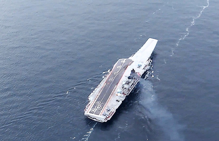 The Admiral Kuznetsov aircraft carrier  Press service of the Russian Ministry of Defense/TASS