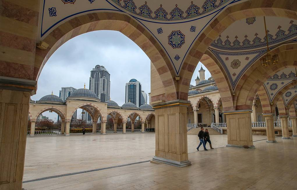 View of Grozny City business centre from the Heart of Chechnya mosque Valery Sharifulin/TASS