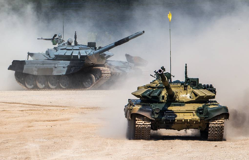 Serbia's and Russia's tanks at Alabino Firing Range in Moscow region Sergei Bobylev/Russian Defence Ministry Press Office/TASS