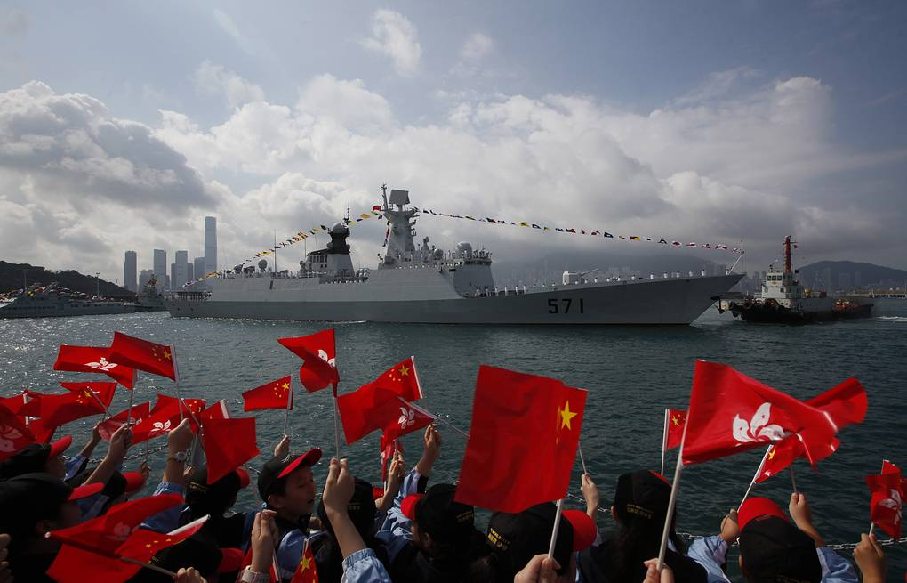 Yuncheng missile frigate AP Photo/Kin Cheung