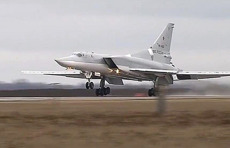Tu-22M3 long-range bomber The Russian Defense Ministry press service/TASS
