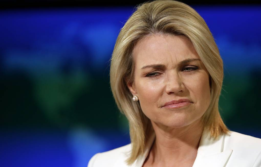 US State Department Spokesperson Heather Nauert AP Photo/Alex Brandon