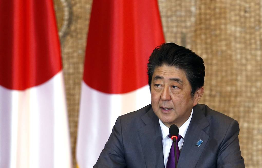 Japan's Prime Minister Shinzo Abe AP Photo/Darko Vojinovic