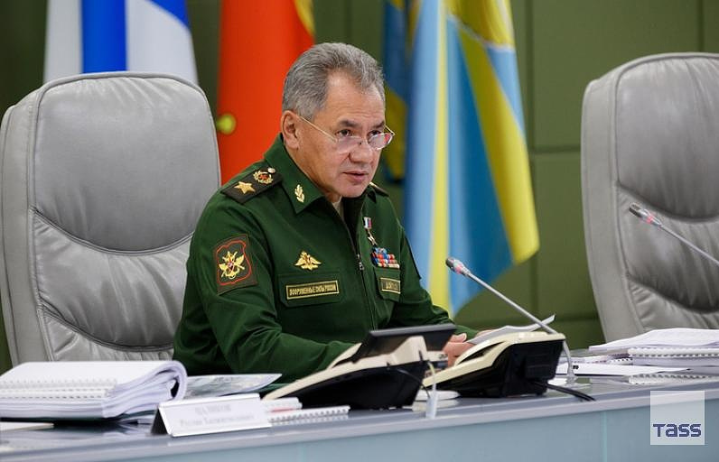 Russia's Defense Minister Sergei Shoigu Vadim Grishankin/Russian Defense Ministry's Press and Information Department/TASS