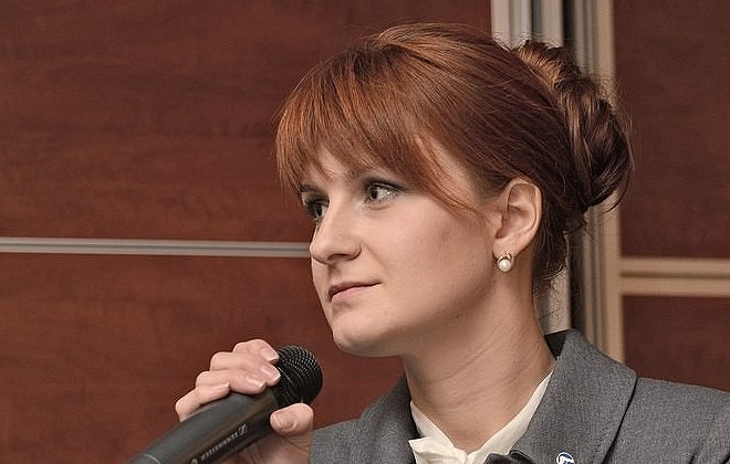 Maria Butina EPA-EFE/Press Service of Civic Chamber of the Russian Federation/HANDOUT