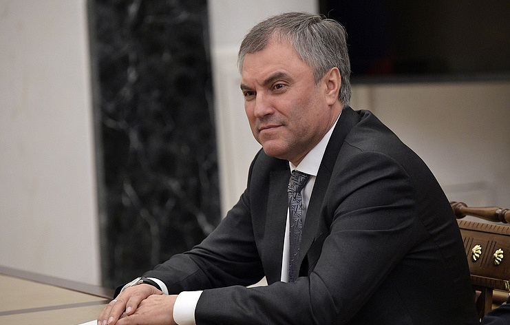 Russian State Duma Speaker Vyacheslav Volodin  Alexei Nikolsky/Russian Presidential Press and Information Office/TASS/