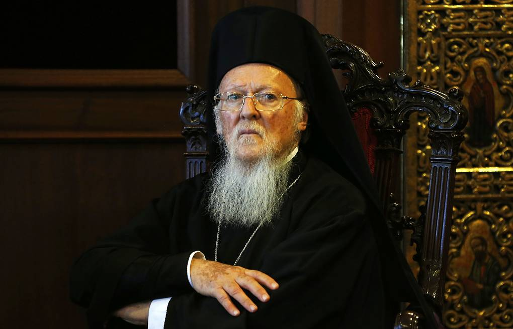 Ecumenical Patriarch Bartholomew of Constantinople  AP Photo/Lefteris Pitarakis