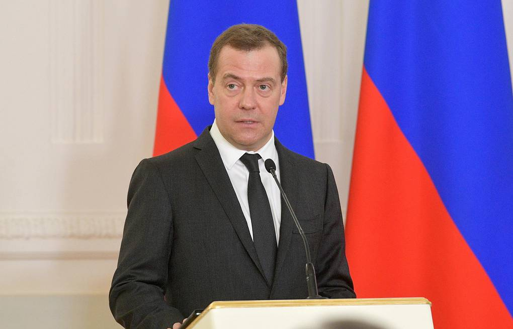 Russia's Prime Minister Dmitry Medvedev Alexander Astafyev/Russian Government Press Office/TASS