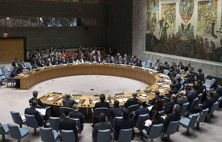 A UN Security Council session  AP Photo/Mary Altaffer