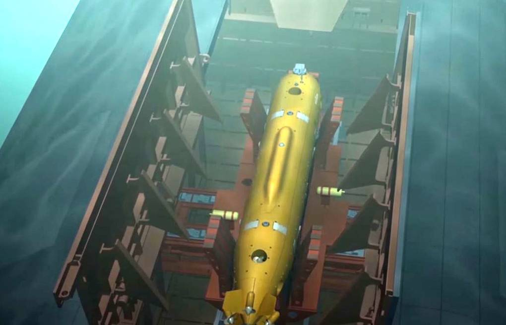Poseidon strategic underwater drone Russian Defense Ministry's press service