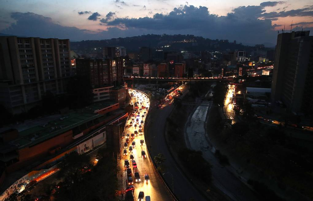A view of a street during power outage in Caracas  Valery Sharifulin/TASS