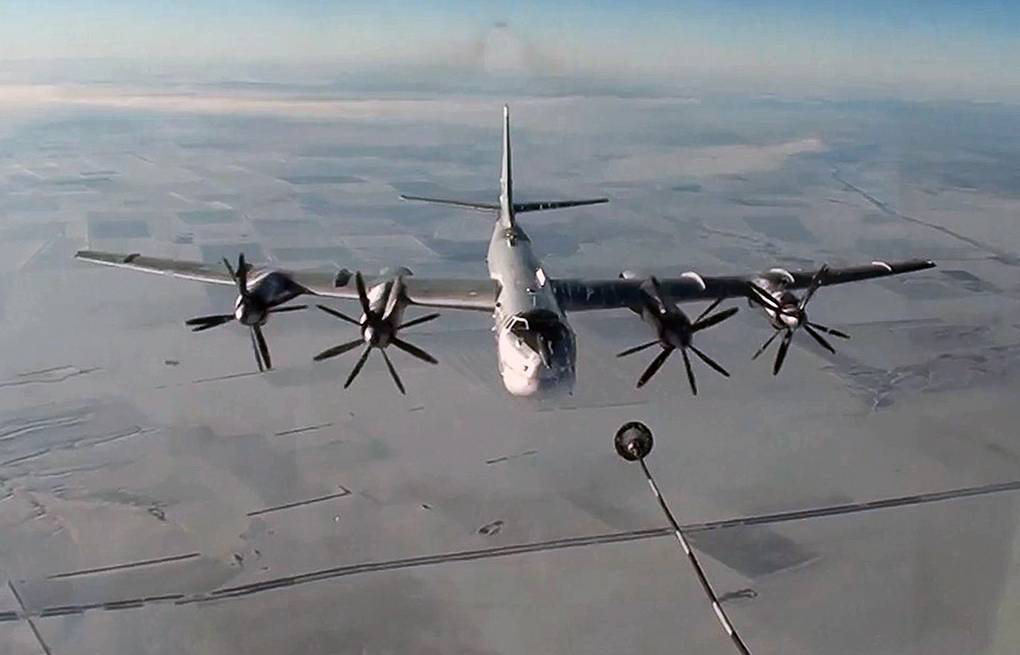 Tu-95MS strategic bomber Russian Defense Ministry press service/TASS