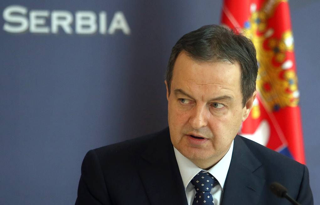Serbian Foreign Minister Ivica Dacic EPA-EFE/ANDREJ CUKIC