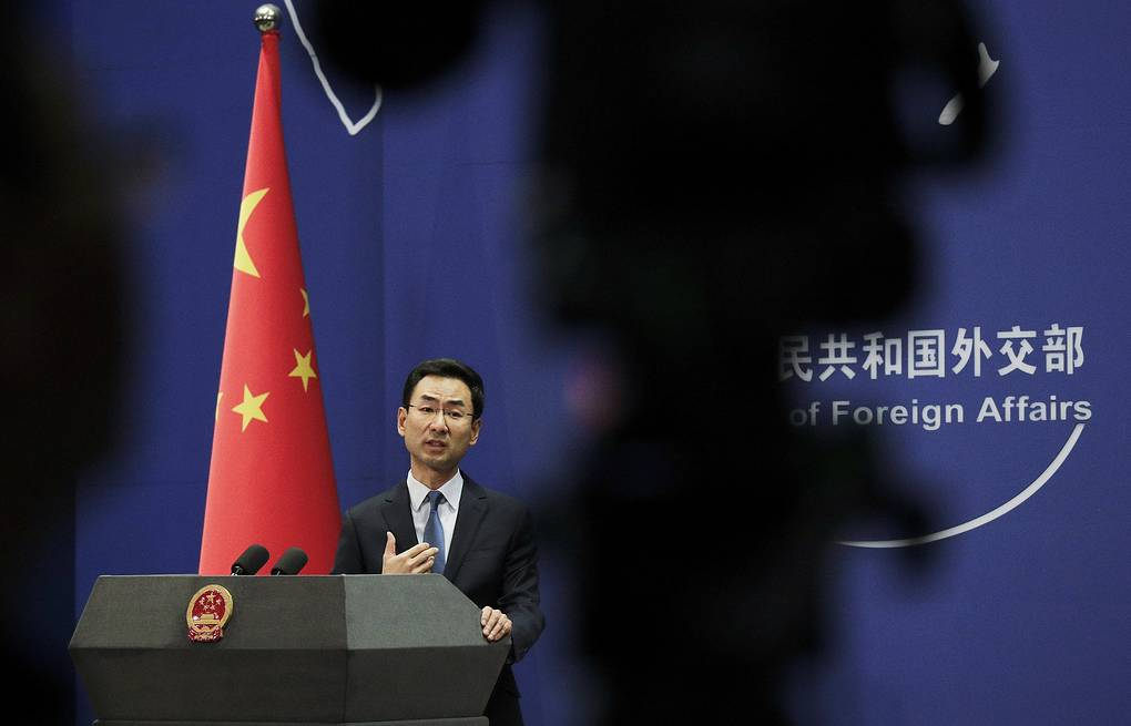 Chinese Foreign Ministry Spokesperson Geng Shuang  AP Photo/Andy Wong