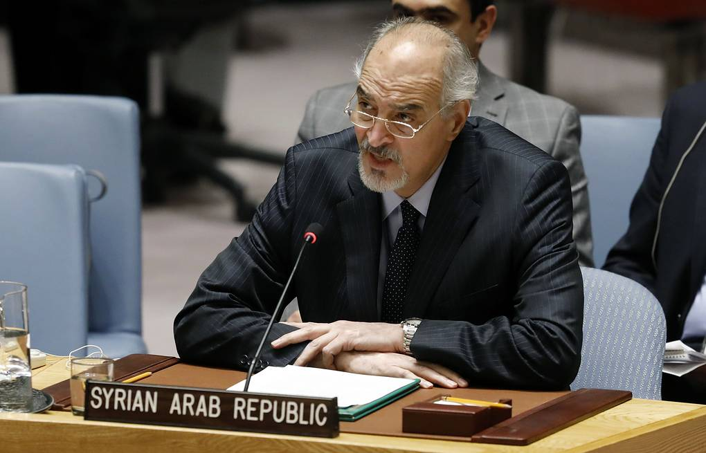 UN ambassador Bashar Jaafari AP Photo/Richard Drew