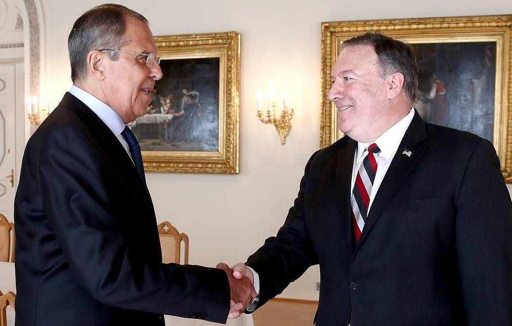 Foreign Minister Sergey Lavrov and US Secretary of State Michael Pompeo Valery Sharifulin/TASS