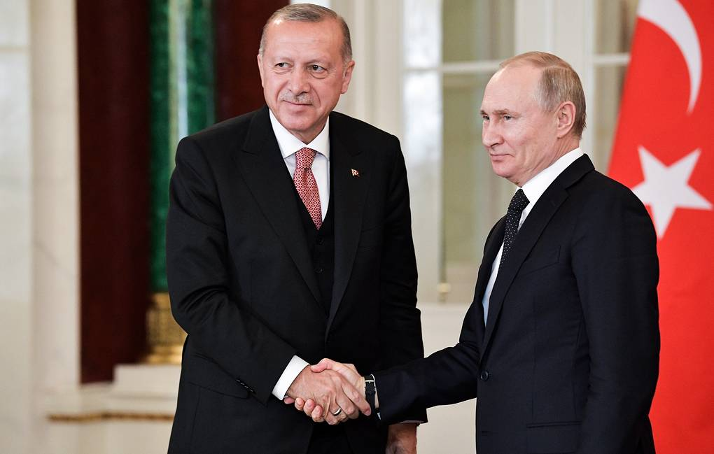 Turkish President Recep Tayyip Erdogan and Russian President Vladimir Putin Alexei Nikolsky/Russian Presidential Press and Information Office/TASS