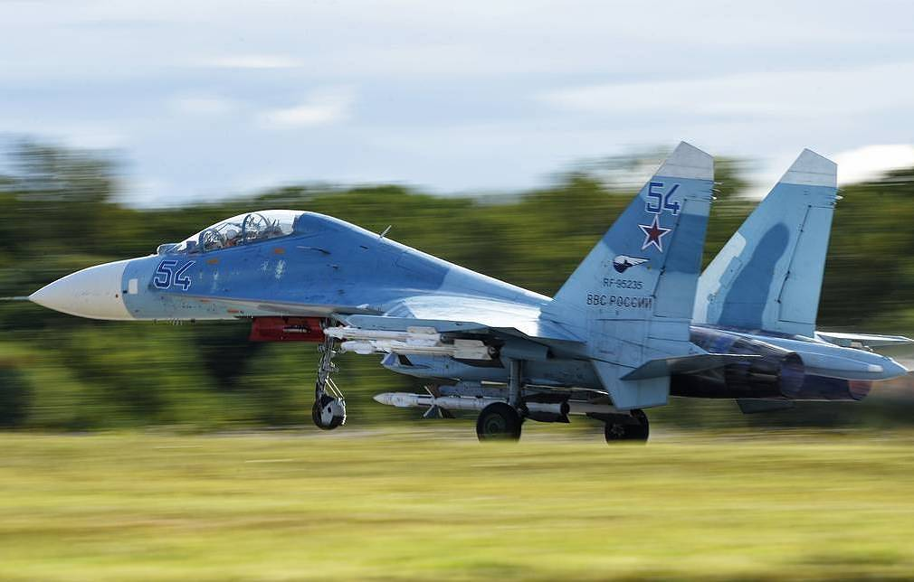 Su-27 fighter jet intercepts US spy plane near southern