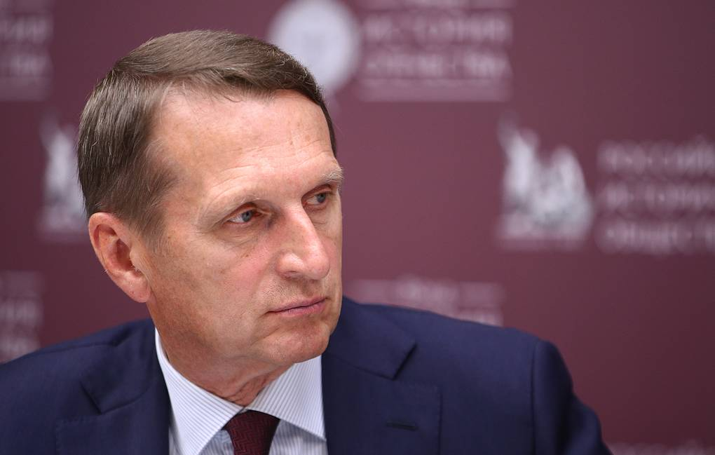 Russian Foreign Intelligence Service Chief and Chairman of the Russian Historical Society Sergei Naryshkin  Sergei Bobylev/TASS