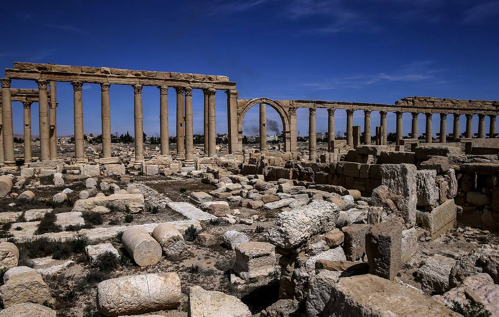 The Great Colonnade in the ancient city of Palmyra Valeriy Sharifulin/TASS