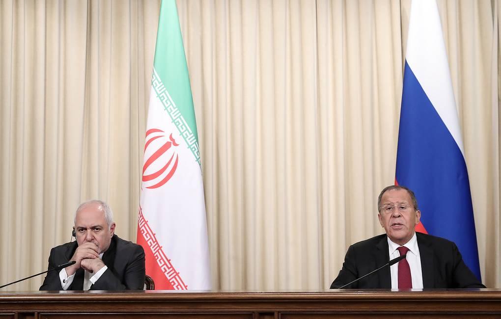 Iranian Foreign Minister Javad Zarif and Russian Foreign Minister Sergey Lavrov  Valeriy Sharifulin/TASS