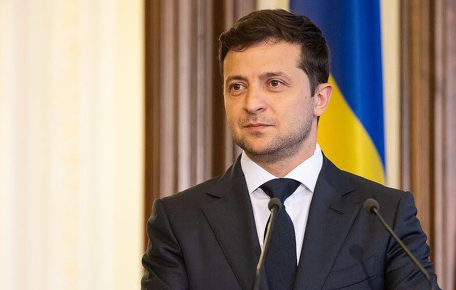 Ukrainian President Vladimir Zelensky Official website of the Administration of the President of Ukraine/CC BY 4.0