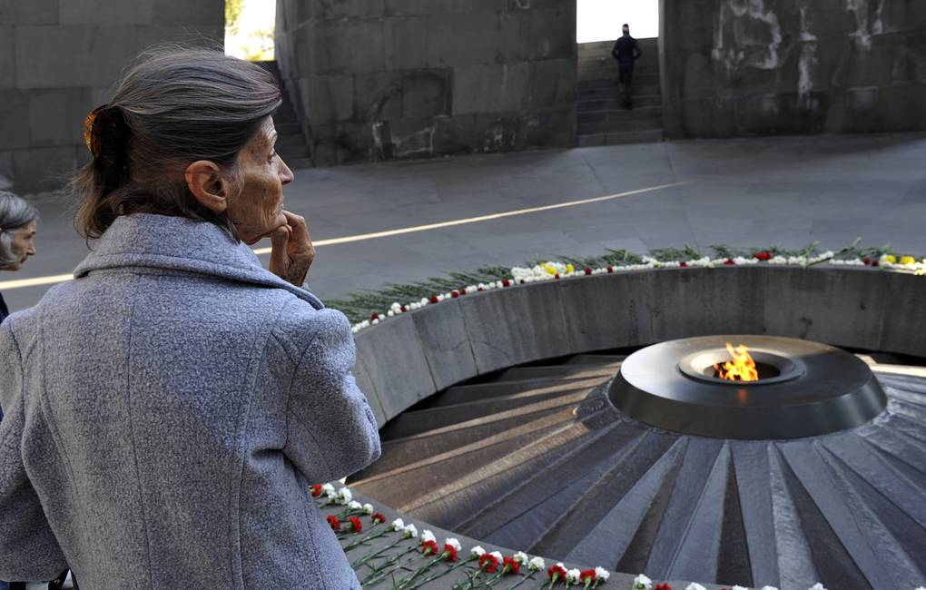 Tsitsernakaberd memorial to the victims of the 1915 genocide of Armenians in Yerevan AP Photo/Hakob Berberyan