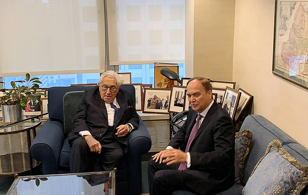 Former US Secretary of State Henry Kissinger and Russian Ambassador to the US Anatoly Antonov Igor Borisenko/TASS