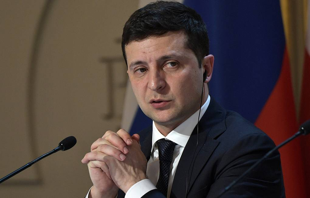 Ukrainian President Vladimir Zelensky Alexei Nikolsky/Russian Presidential Press and Information Office/TASS