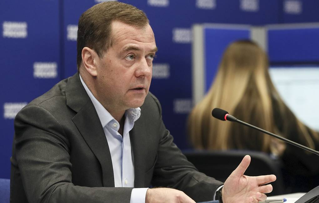 United Russia Party chair, Russian Security Council Deputy Chairman Dmitry Medvedev Yekaterina Shtukina/POOL/TASS