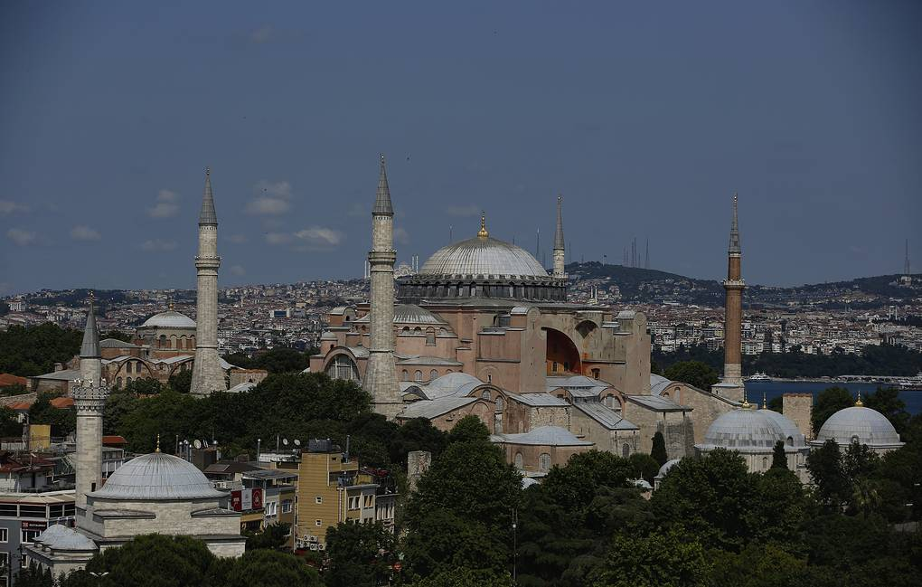 Hagia Sophia, one of Istanbul's main tourist attractions AP Photo
