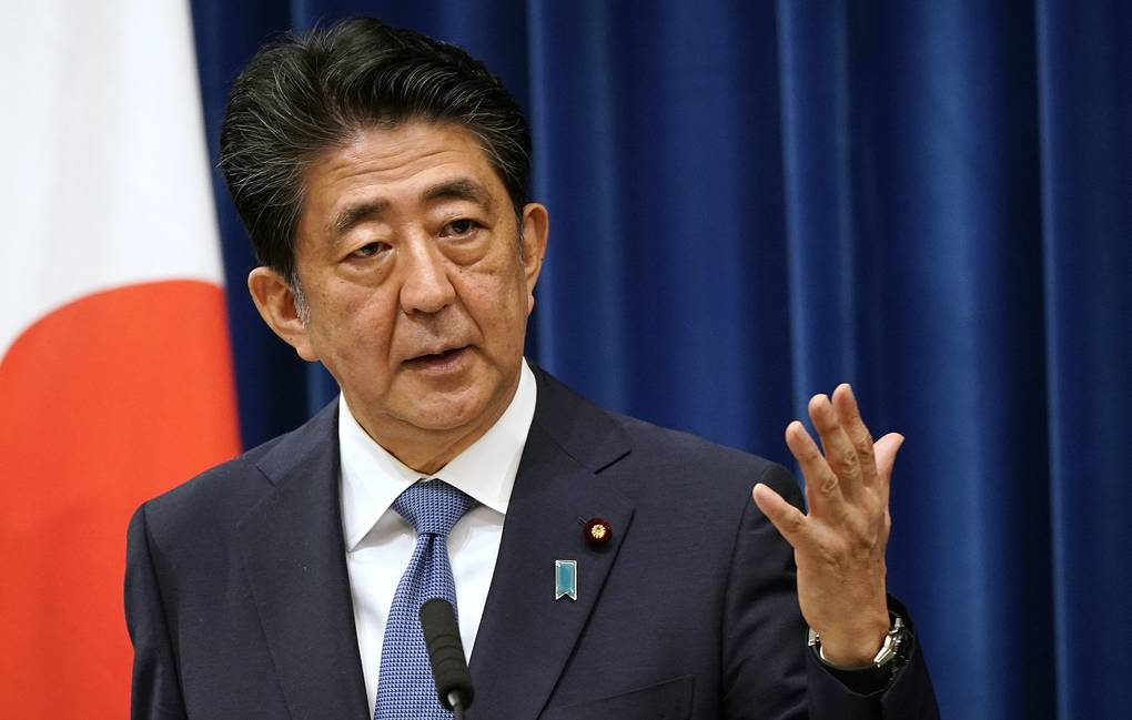 Japanese Prime Minister Shinzo Abe Franck Robichon/Pool Photo via AP