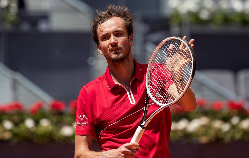 Chilean Player Garin Knocks Out Russian Tennis Star Medvedev From 2021 Madrid Open Sport Tass