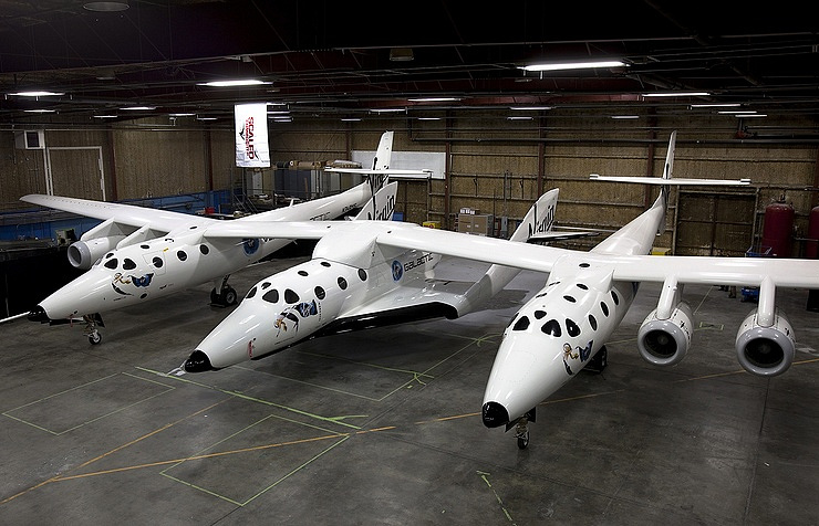 Корабль SpaceShipTwo компании Virgin Galactic EPA/Mark Greenberg / Virgin Galactic