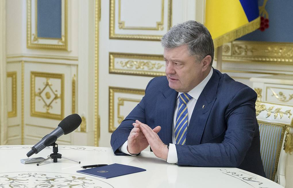 Президент Украины Петр Порошенко Mykhailo Markiv/Ukrainian Presidential Press Service/Handout via REUTERS