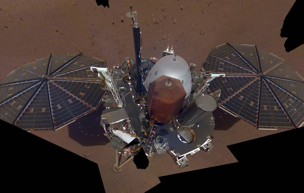 Станция Mars InSight  NASA/JPL-Caltech via AP