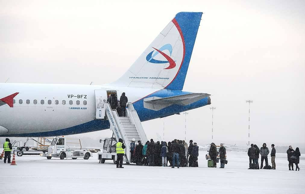 Six passengers fall from airstairs while boarding plane in West Siberia