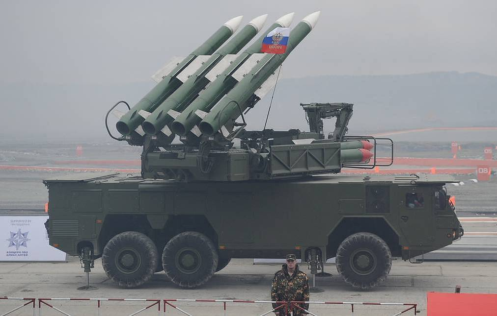 Buk-M2E systems intercept four missiles fired by Israeli fighter jets at Homs province